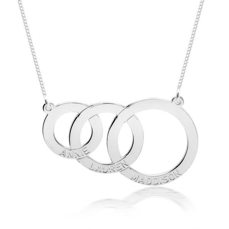 Collier Cercles Entrelacés