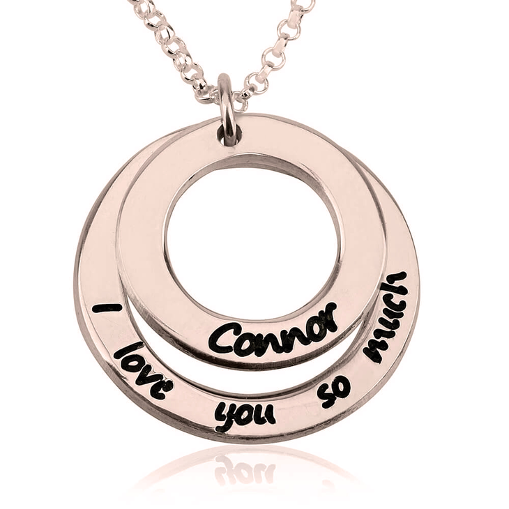 I Love You So Much Necklace with Name