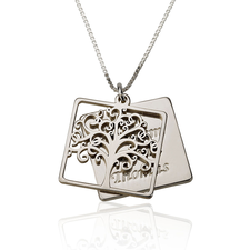 Engraved Family Tree Necklace