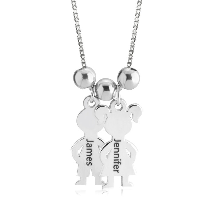 Boy And Girl Necklace Charm - Picture 2