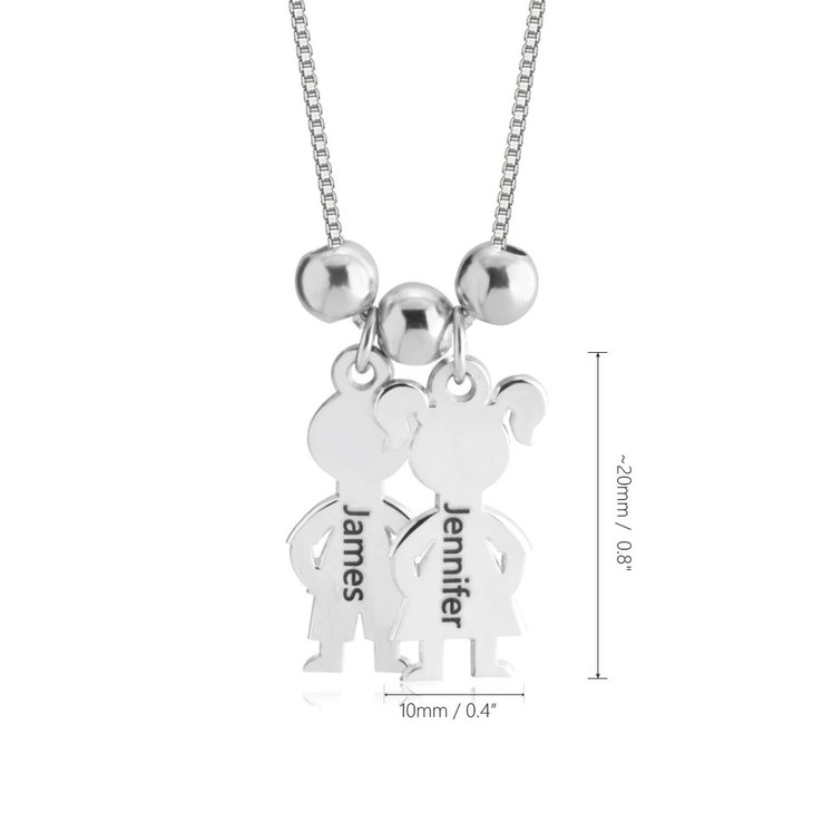Boy And Girl Necklace Charm - Information