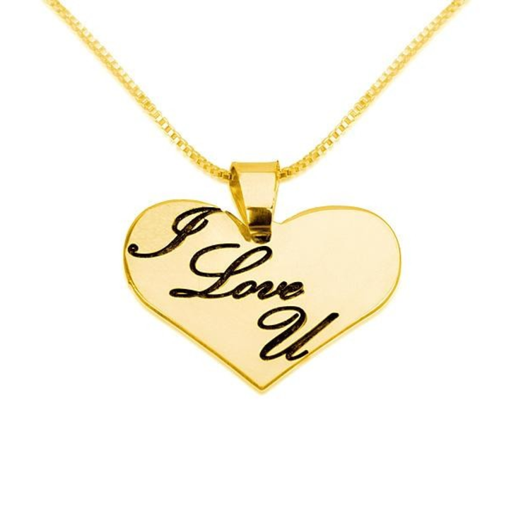 I Love You Heart Necklace