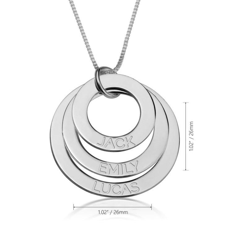 Engraved Mother Necklace - Information