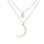 Crescent Moon And Star Necklace - Thumb