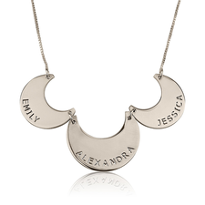 Engraved Linked Family Necklace