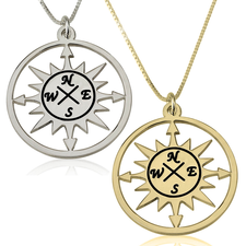 Compass Pendant Necklace