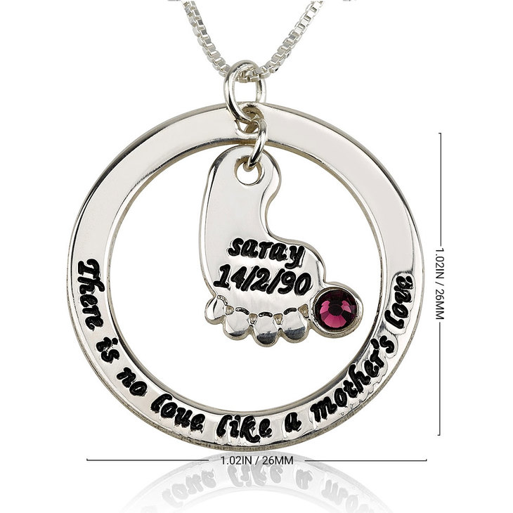 Baby Footprint Necklace Personalised - Information
