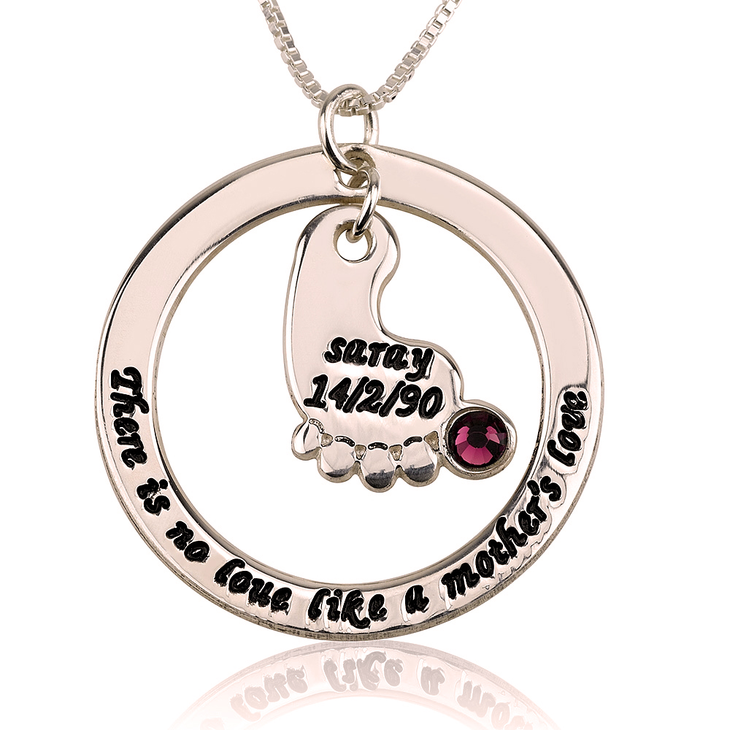 Baby Footprint Necklace Personalized