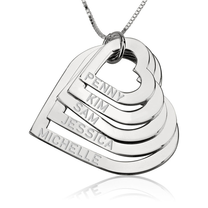 Mother's Heart Necklace - Picture 4