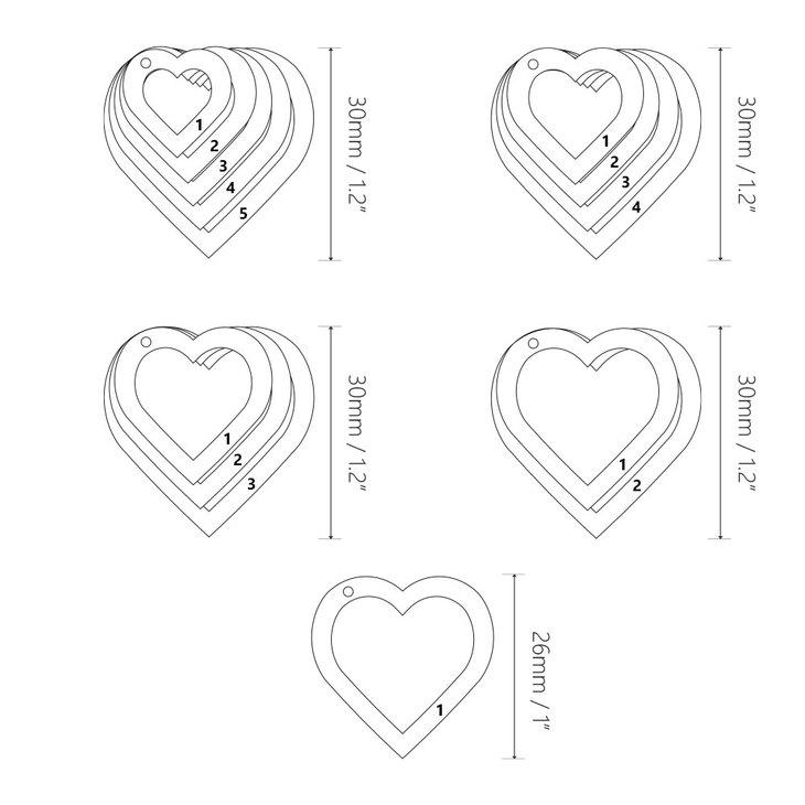 Collier Cœurs Gravés pour Mamans - Information