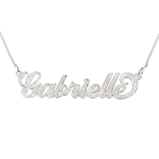 Collar Brillante con Nombre Carrie