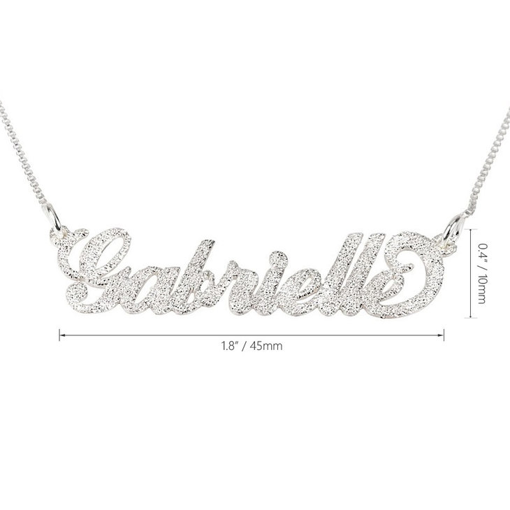 Sparkling Carrie Name Necklace - Information