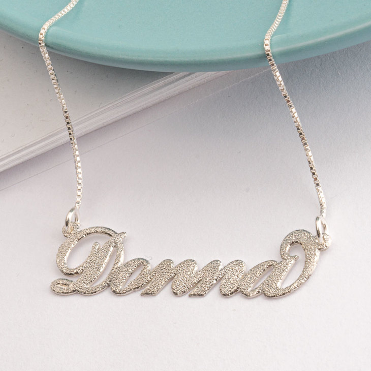 Sparkling Carrie Name Necklace - Model