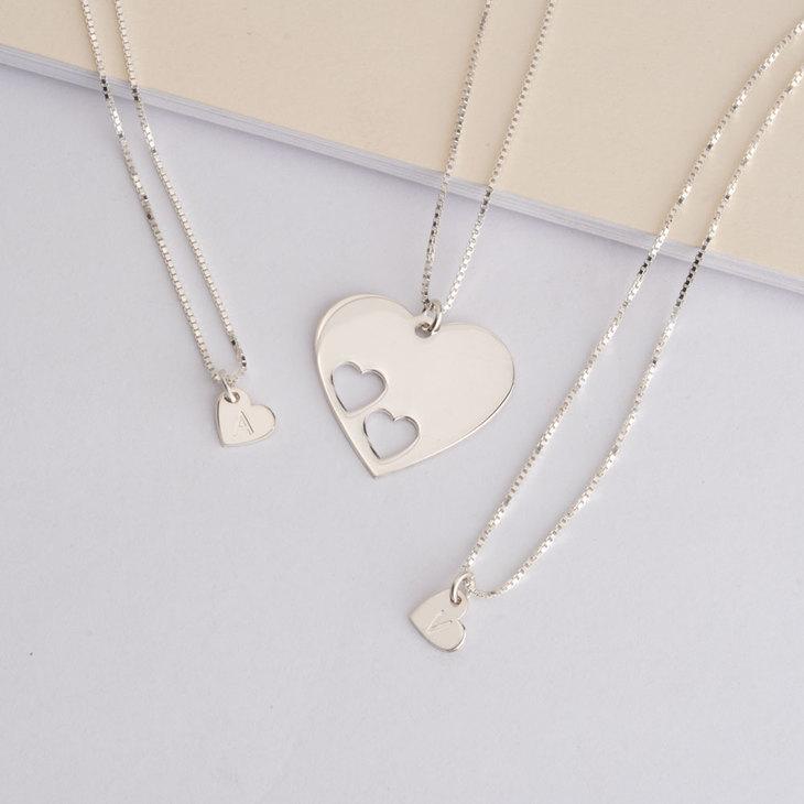 Set de Colliers Cœurs Mère Fille - Model