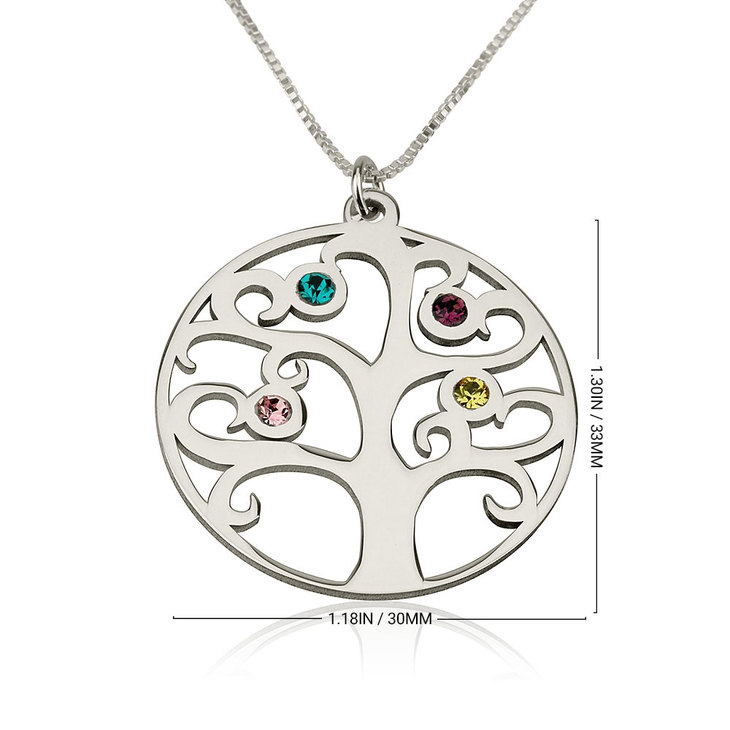 Family Tree Birthstone Necklace - Information