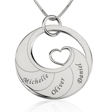 Mother Necklace With Engraved Names