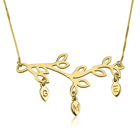 Mother`s Tree Branch Necklace