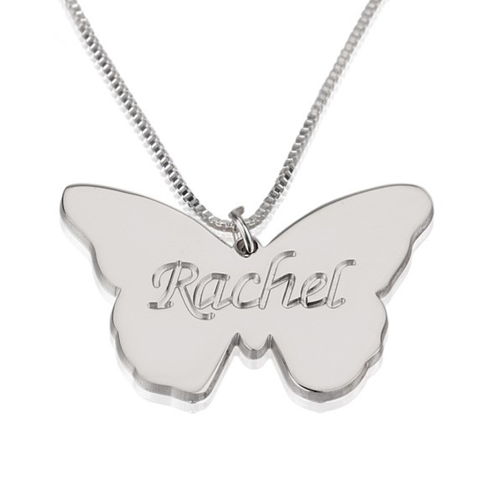 Butterfly Name Pendant