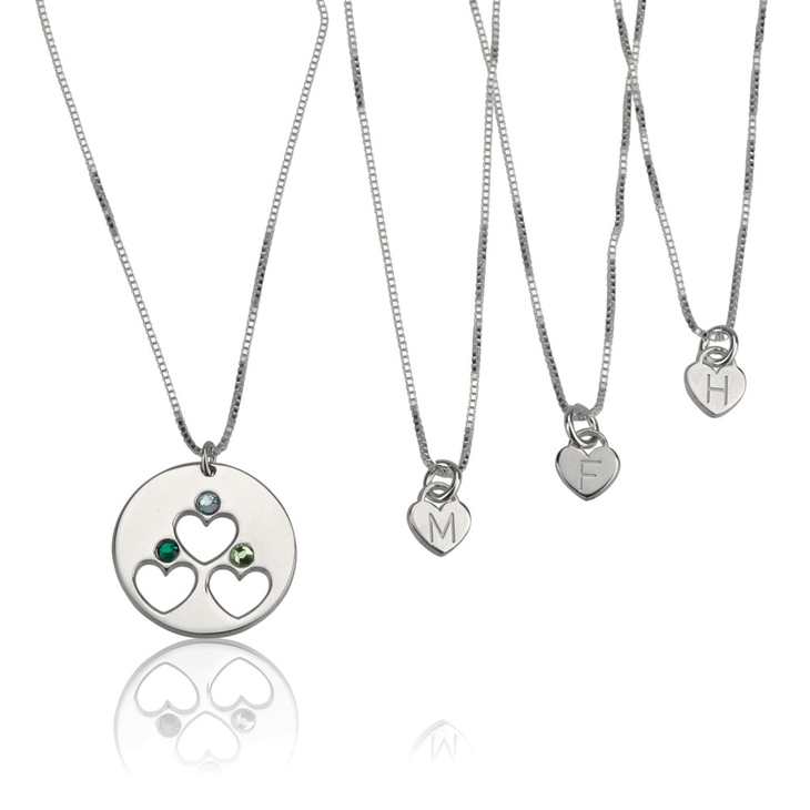 Birthstone Mother Daughter Necklace Set  - Picture 3