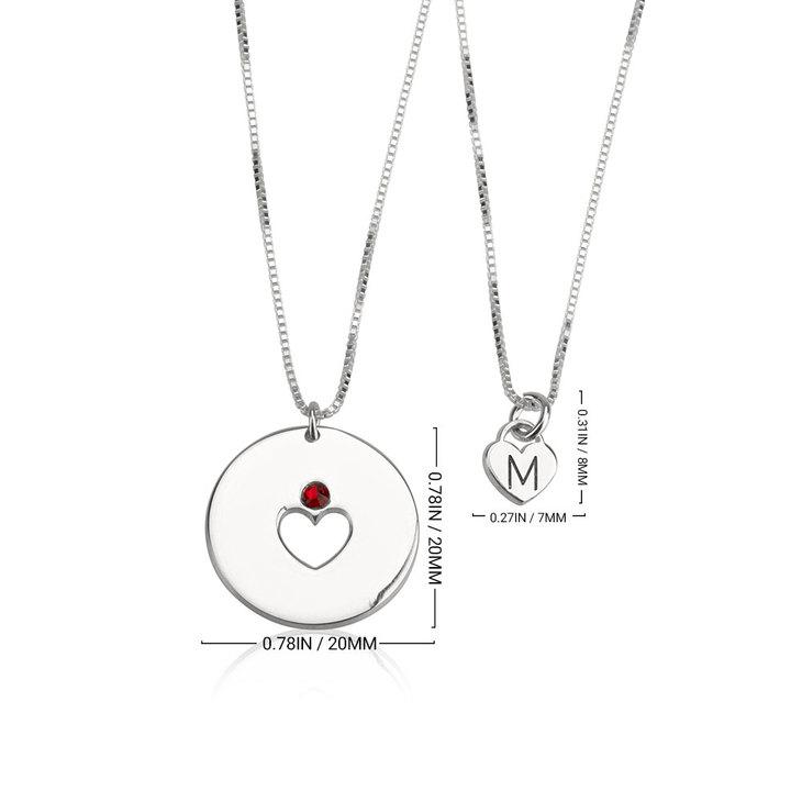Conjunto de Collar de Piedra de Nacimiento - Madre e Hija - Information