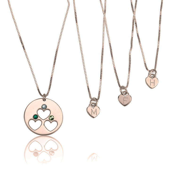 Birthstone Mother Daughter Necklace Set - Picture 2