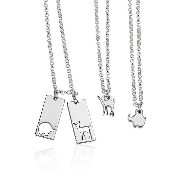 Animal Mother Daughter Necklace Set  - Picture 2