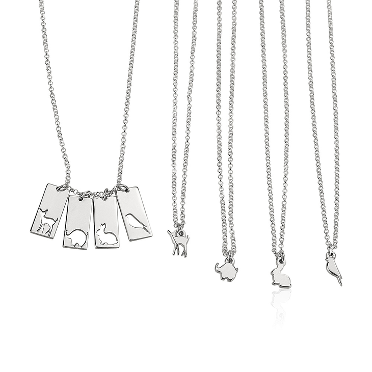 Animal Mother Daughter Necklace Set - Picture 4