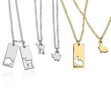 Animal Mother Daughter Necklace Set