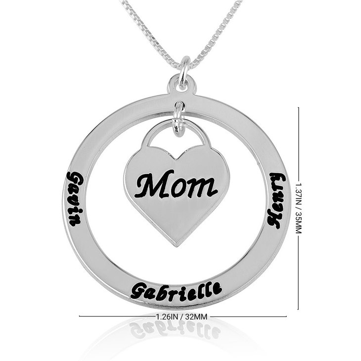 Mom Heart Necklace - Information