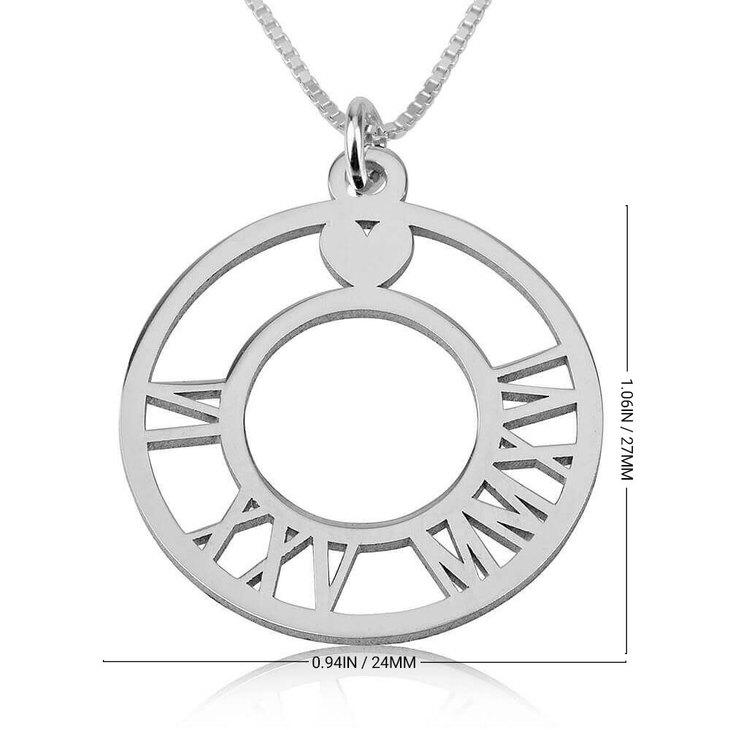 Collier Circulaire à Chiffres Romains - Information