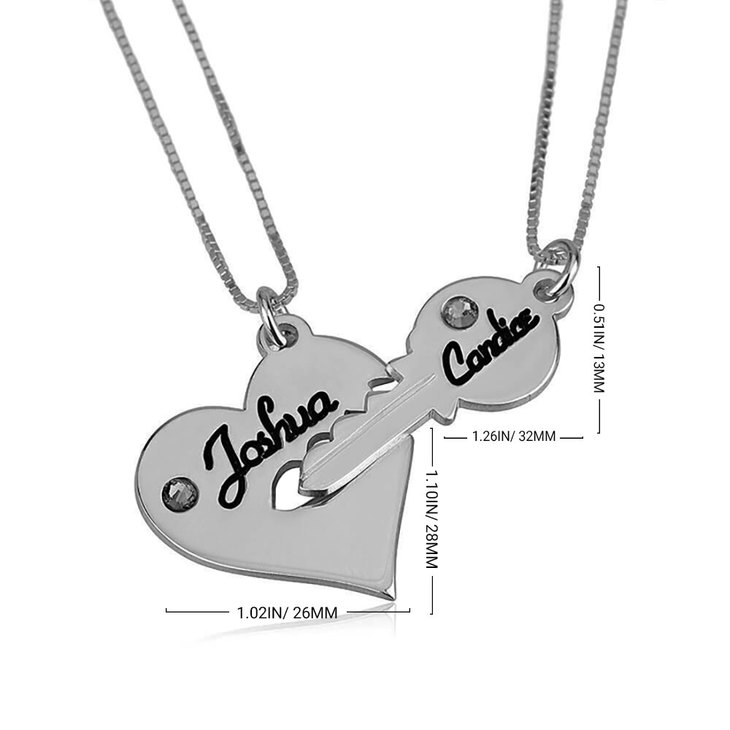 Heart And Key Necklace - Information