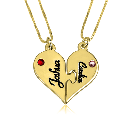 Two Heart Necklace Splits