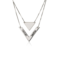 Chevron Necklace With Names