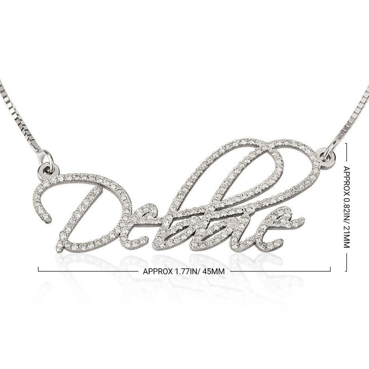 Name Necklace Gold with Diamond - Information