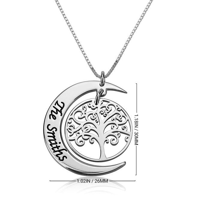 Personalized Family Tree Necklace - Information
