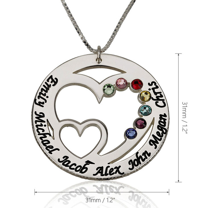 Engraved Birthstone Necklace for Mom - Information