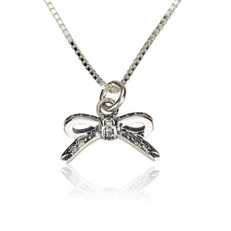 Cubic Zirconia Bow Necklace