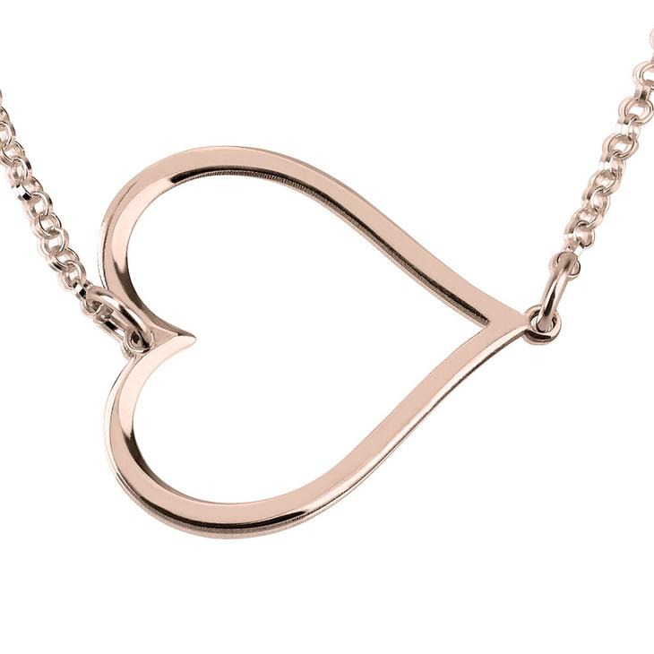Sideways Heart Necklace