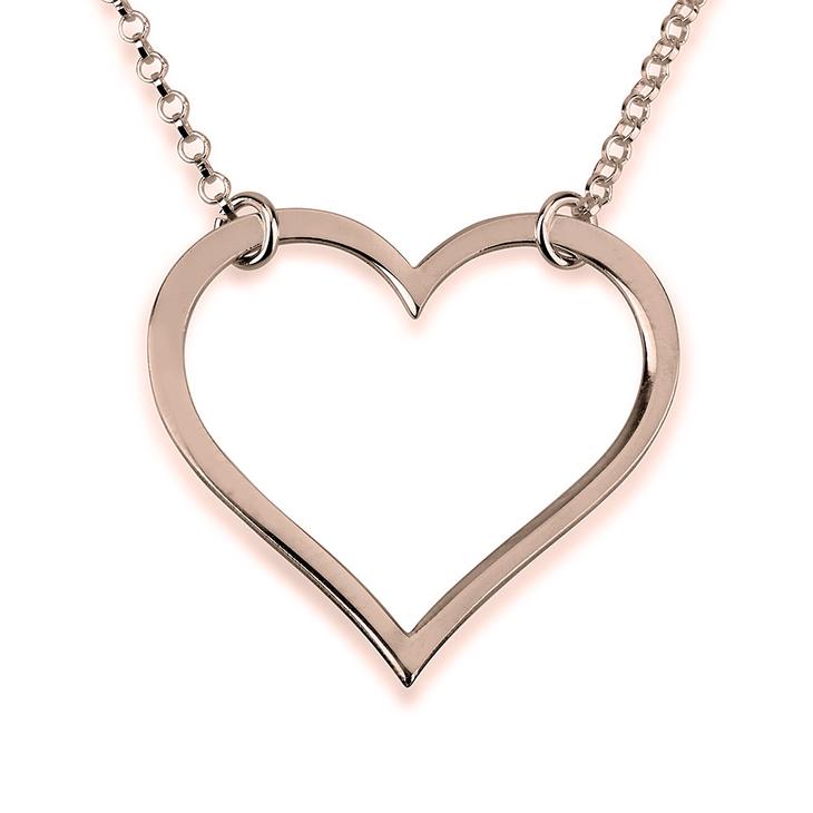 Sideways Heart Necklace - Picture 2