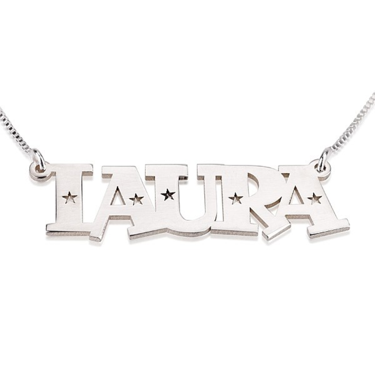 Stars Name Necklace