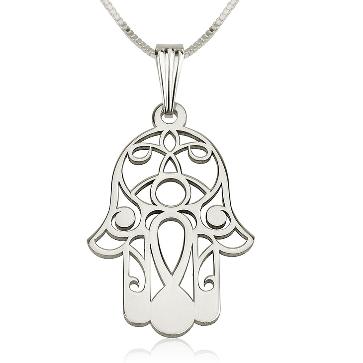 Hamsa Necklace - Hamsa Hand Necklace