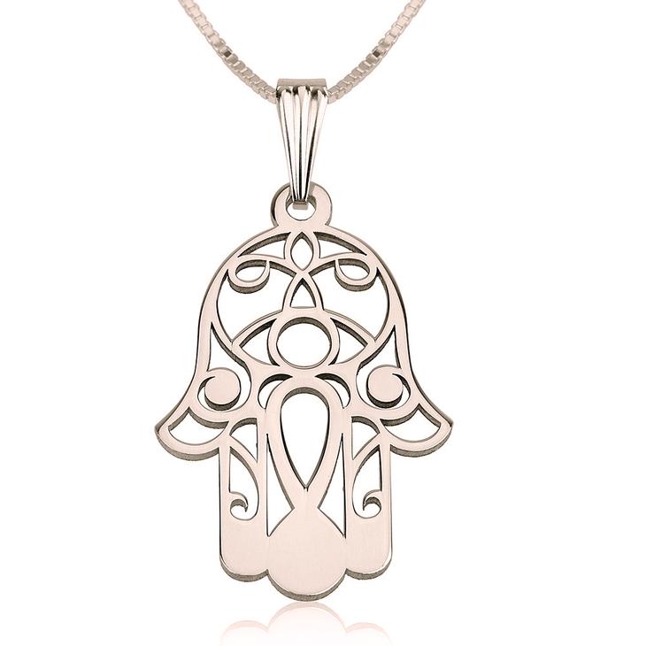 Hamsa Necklace - Hamsa Hand Necklace