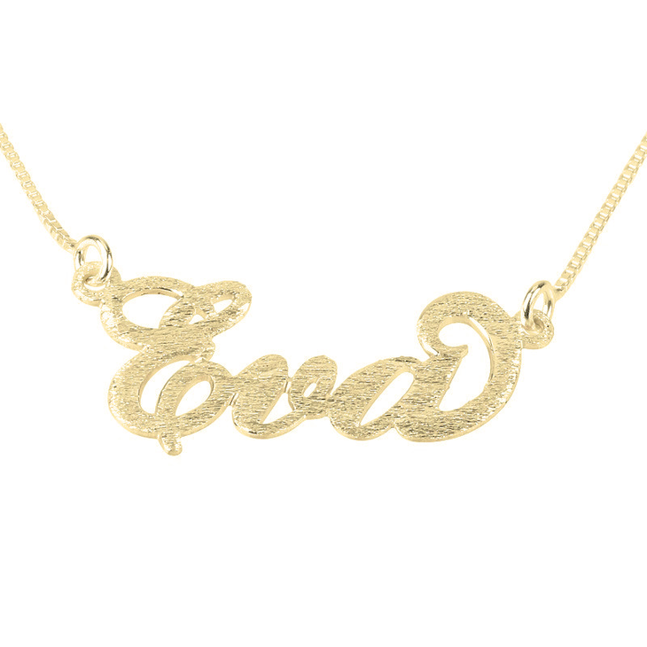 Brushed Carrie Name Necklace