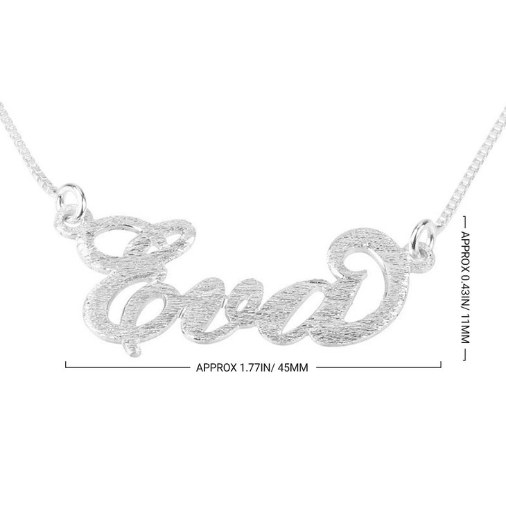 Brushed Carrie Name Necklace - Information