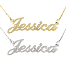 Brushed Name Necklace