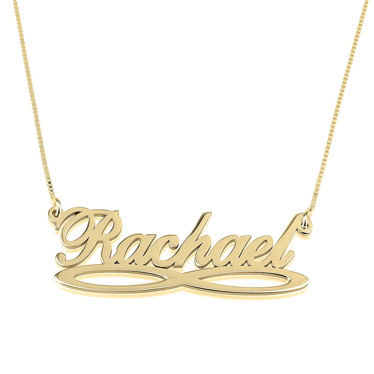 Infinity Underline Name Necklace