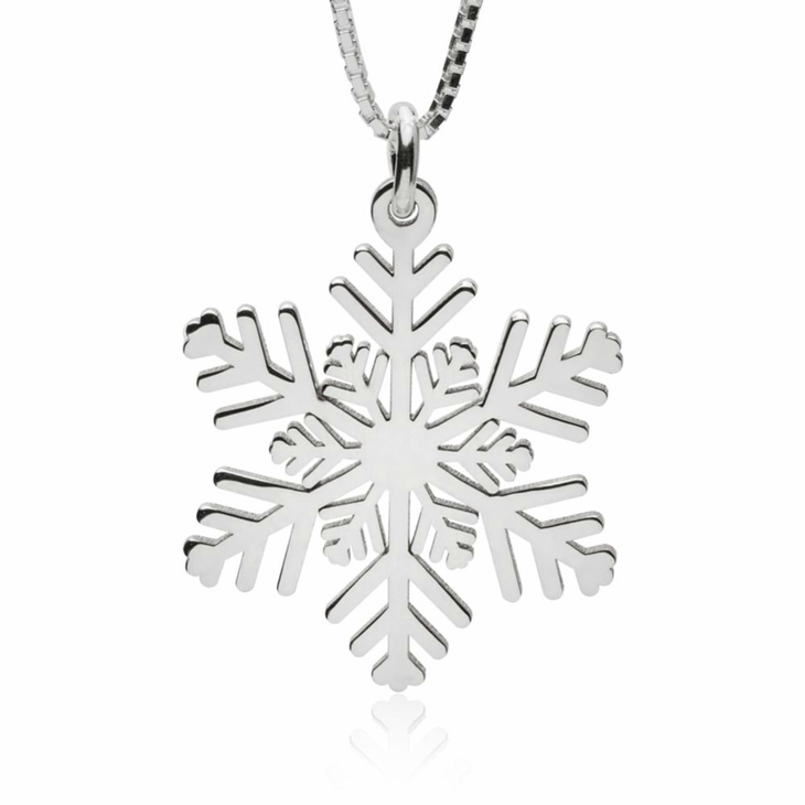 snowflake silver product of centres necklace pendant sterling diamond image charm