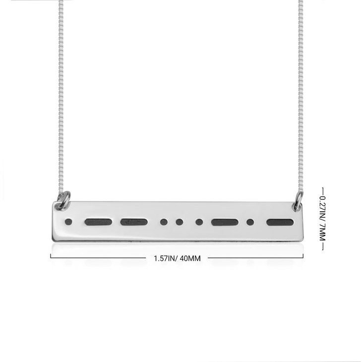 Collier Code Morse - Information