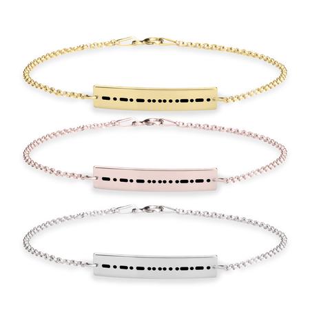 69f50109c6a20 Morse Code Bracelet