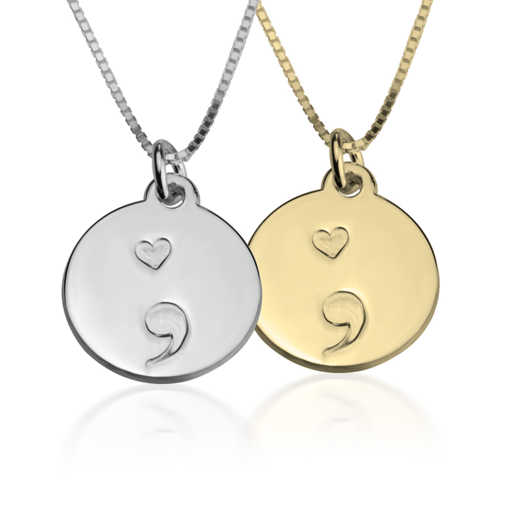 Semicolon Pendant Necklace